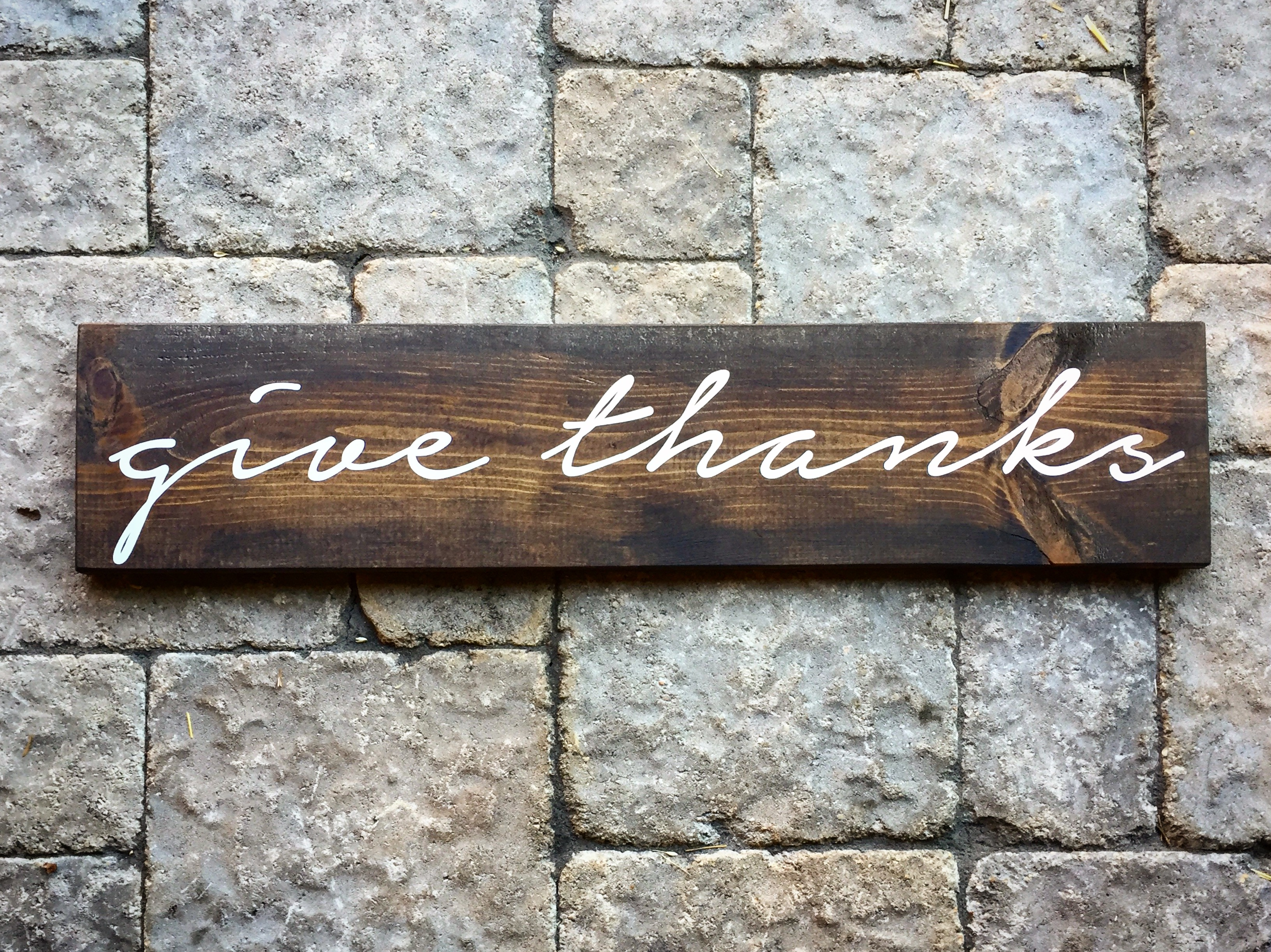 give thanks wood sign thanksgiving decor