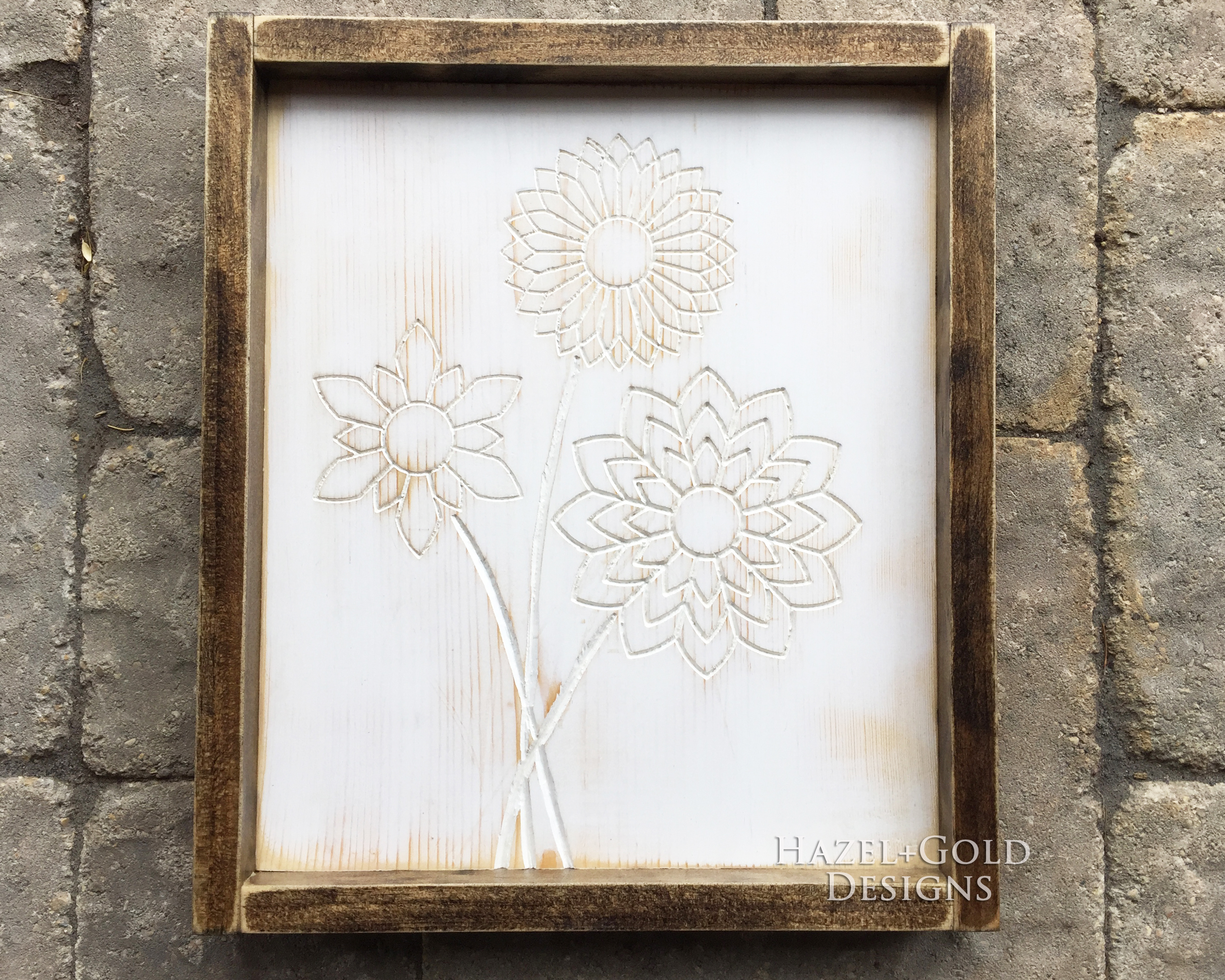 wood designs with a router flower art 2