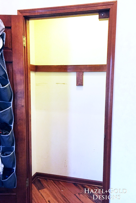 Closet reno - empty closet