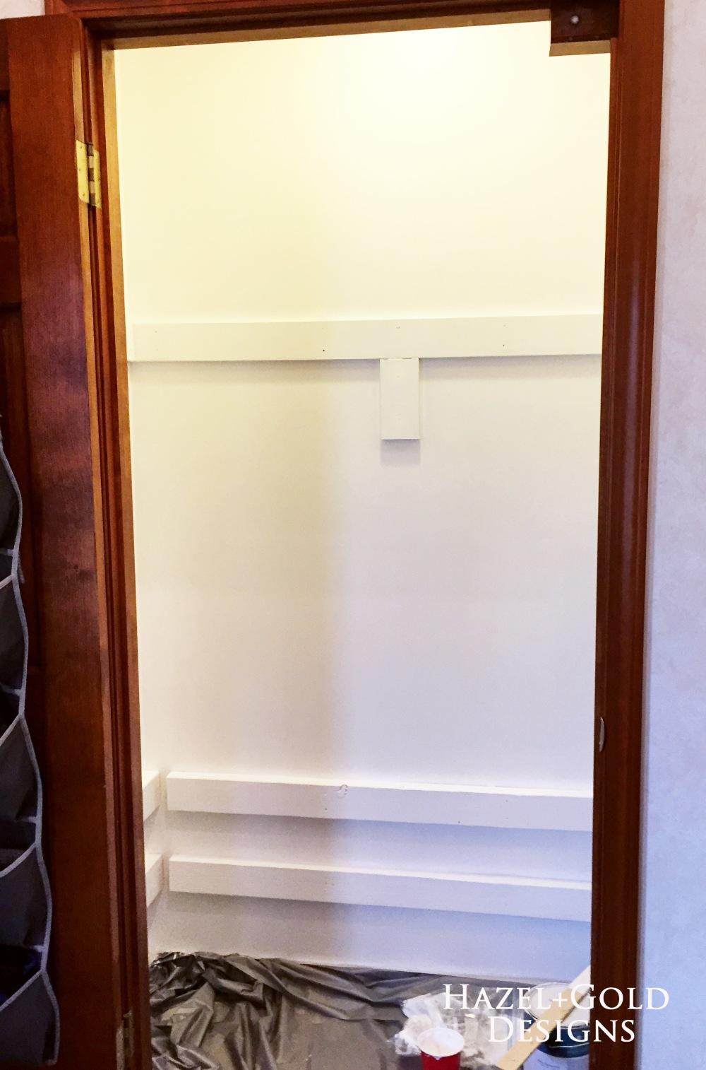 closet reno - painting white