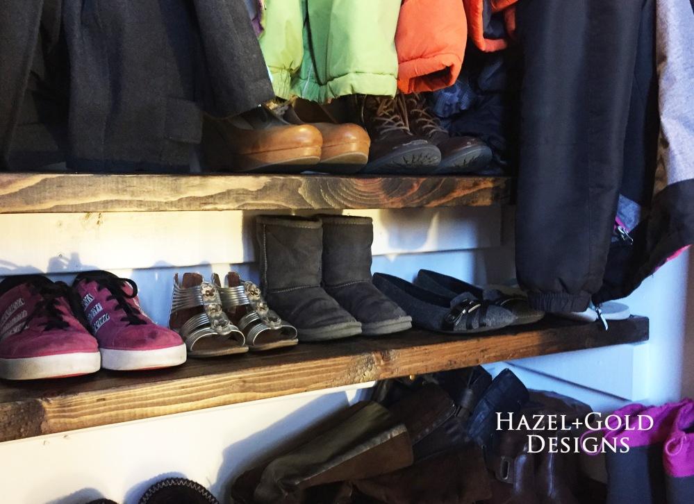 Closet Reno - Shoe shelves