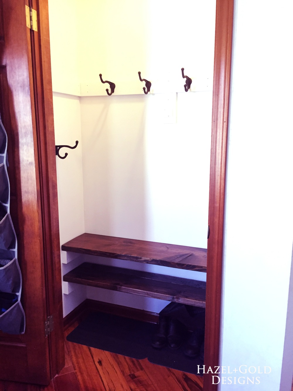 Finished closet - from right angle