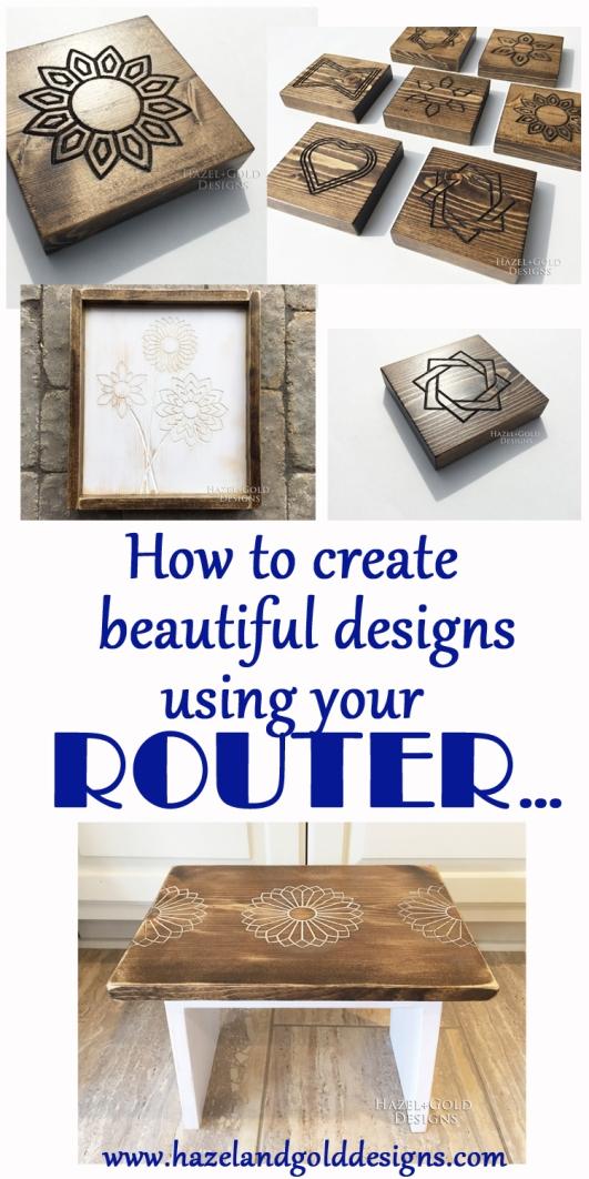 Diy Wood Designs Using A Router Hazel Gold Designs