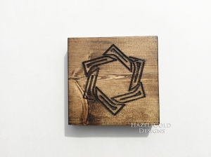 wood designs with a router star line design 3