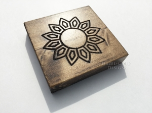 wood designs with a router sunflower 4